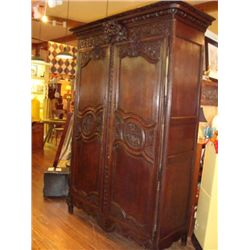 French Louis XV wedding armoire circa 1800