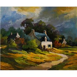 Boidon5_CountryHome Oil 23 x 25-French Artist