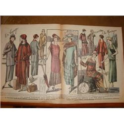 Authentic French Fashion print dated 1924