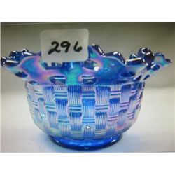 Hand made Beautiful Fenton Carnival Glass Basket/bowl