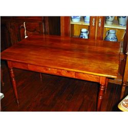 French Farm table one drawer circa 1840
