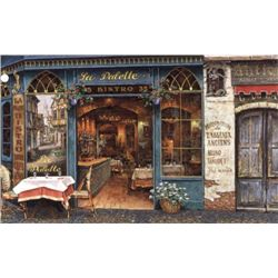 Le Bistro Cafe By Blanchard Giclee 24 x 32 S/N