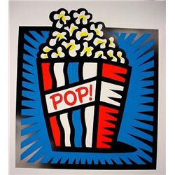 AMERICAN POP BLUE Burton Morris HUGE Pop Art Print S/N