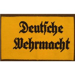 NAZI  DEUTSCHE WEHRMACHT ORIG ARMBAND FOR ARMY WORKERS