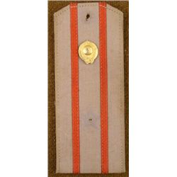 RUSSIAN UNIFORM SHOULDER BOARD W/GOLD DEVICE