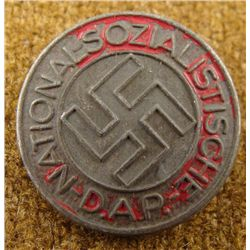 RARE BLACK NSDAP NAZI PARTY BADGE PINBACK RZM-M1/100