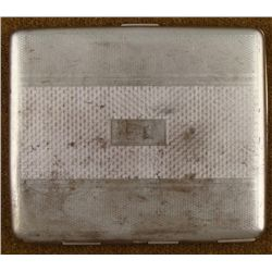 WWII GERMAN WEHRMACHT SILVER CIGARETTE CASE ART DECO