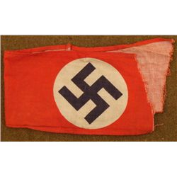 NAZI PARTY ARMBAND-NSDAP-ORIG -RIPPED OFF NAZI BY G.I.
