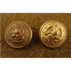 2 Civil War Orig Naval Buttons Gaunt Starkey -England
