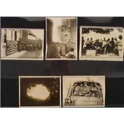 5 6x8 BRIT WWI PRESS PHOTOS-GERMAN OFFENSIVE-ORIG