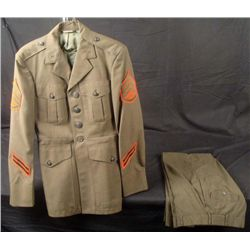U.S. MARINE UNIFORM TUNIC-4TH GRADE NCO STRIPES