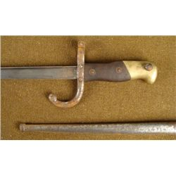 M1874 EPEE BAYONET ST ETIENNE ARSENAL MARCH 1877