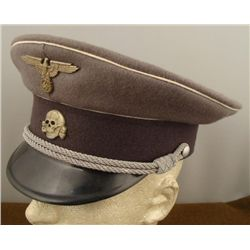 Nazi SS Repro WWII Cap Hat w/ Skull, Eagle and Swastika
