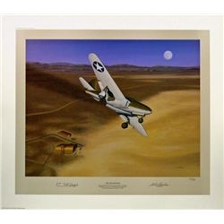 Aviation Art The Beginning Machat P-59 Jet