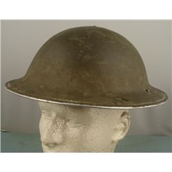 BRITISH WWII STEEL POT TYPE II COMBAT HELMET
