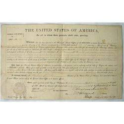 FY392 GENERAL LAND OFFICE GRANT WITH 2 LINCOLN NAMES SE
