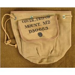 WWII CANVAS OD COVER FOR M2 TRIPOD MOUNT UNISSUED 1945