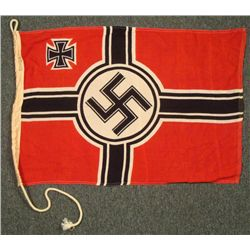 WWII Nazi Naval Flag w/ Iron Cross  REPRO