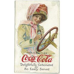 "Original Coca Cola ""Duster Girl"" Blotter c1910"