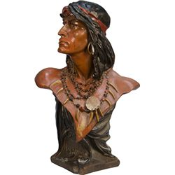 Plaster Figural Indian Cigar Store Counter Statue