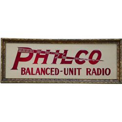 """PHILCO Balanced - Unit Radio"" Light-Up Box Advertiseme"