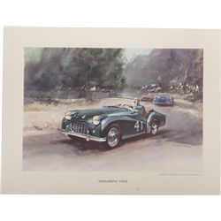 Lot Of 11 Misc. Automobile Prints c1920-1950
