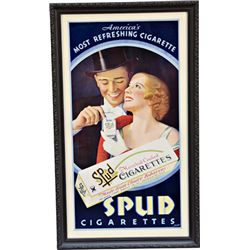 SPUD Cigarettes Cardboard Sign
