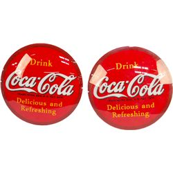 Lot Of 2 Drink Coca Cola Glass Lenses