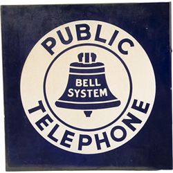 """Bell System Public Telephone"" Double Sided Flange"
