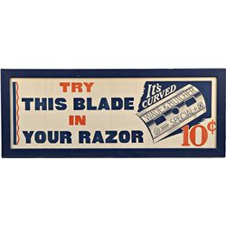 Wade & Butcher Special Curved Razor Blade Paper Ad