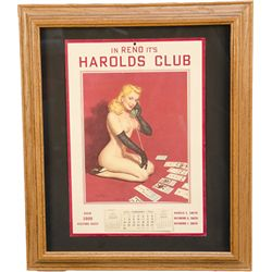Lot Of 2 Harold's Club Reno, NV. Pin-Up Girlie Calendar