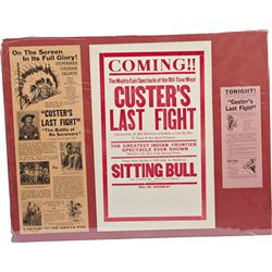 "Lot Of 3 Original ""Custer's Last Fight"" Movie Poster's"