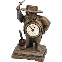 Early Bronze Mechanical Figural Match Striking Clock