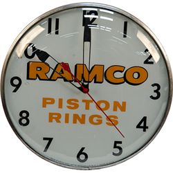 "Vintage ""RAMCO Piston Rings"" Advertisement Light-Up Pam"