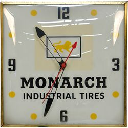 "Vintage ""Monarch Industrial Tires"" Advertisement Light-"