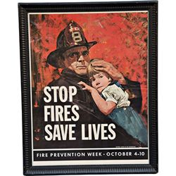 "Fire Prevention Week Oct. 4-10 Poster ""Stop Fires Sav"
