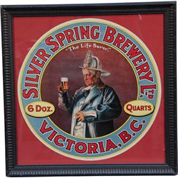 Silver Spring Brewing Ltd. Round Paper Sign