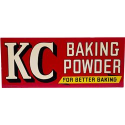 "KC Baking Powder Tin Sign ""For Better Baking"""