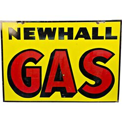 "Large ""NEWHALL GAS"" Double Sided Porcelain Sign"