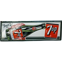 """Fresh Up"" With 7UP Embossed Self Framed Tin Sign"