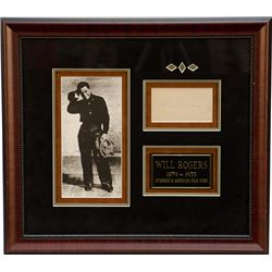 Framed Will Rogers (1879-1935) Display