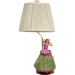 Lamp w/ Hula Girl On Base