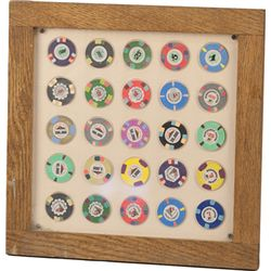Lot Of 2, Assorted Poker Chip Display Plaques