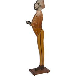 Wooden Figural Black Usher Hall Statue