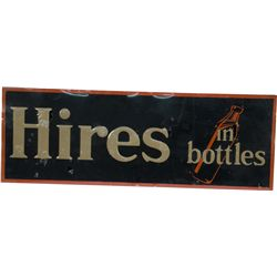 Hires In Bottles Embossed Tin Sign