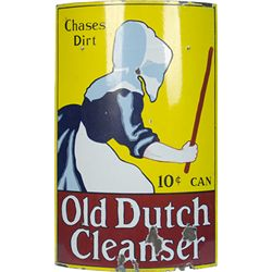 Old Dutch Cleanser Curved Porcelain Sign