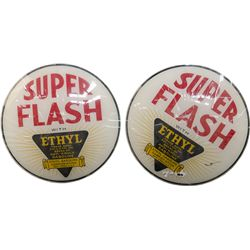 "Lot Of 2 ""Super Flash"" Ethyl Gasoline Corporation Gas P"