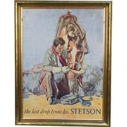 """The Last Drop From His Stetson"" Advertisement Print -"