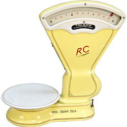 Early Toledo Porcelain 3 Pound Candy Store Scale restor