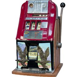 5 Cent Mills Novelty High-Top Jackpot Slot Machine c195